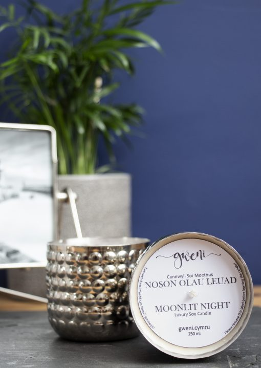 Moonlit Night Candle in Metal Bobble Tin