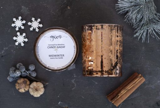 Midwinter Christmas Rose Gold Candle