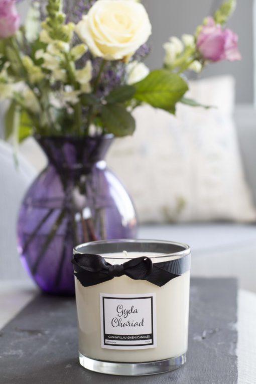 Gyda Chariad Large Candle