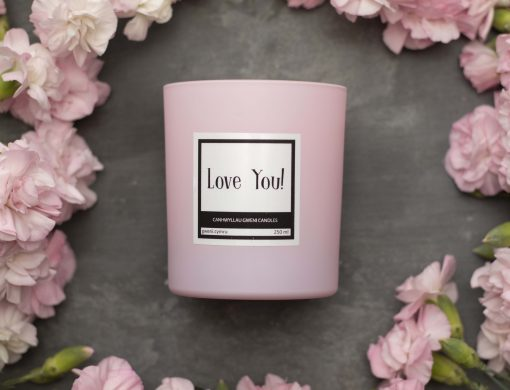Love You! Pink Candle