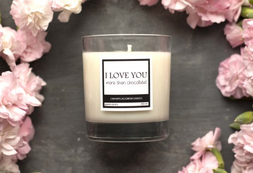 I Love You More than Chocolate Candle